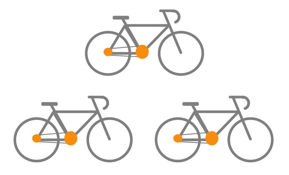 3 Fahrräder transportieren