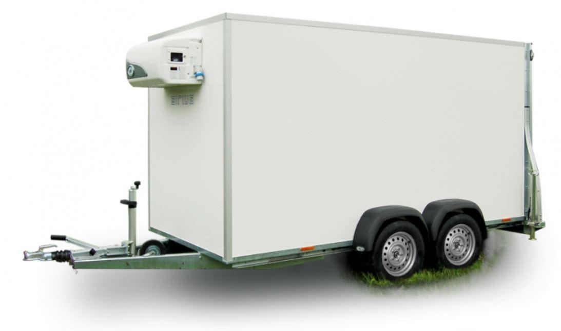 Isolierter Anhänger mit Kühlgerät